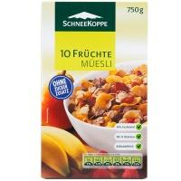 德国诗尼坎普维生素10种水果麦片750g