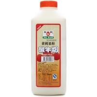 和润黄桃大果粒酸牛奶910g