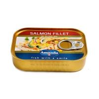 阿嫚橄榄油浸三文鱼片罐头115g