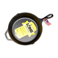 Lodge洛极 美国进口平底锅铸铁锅不易粘煎锅26cm无涂层炒锅L8SK3