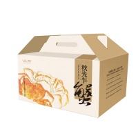 2017年春播阳澄湖精品大闸蟹福礼盒 母蟹3.3-3.7两4只,公蟹4.3-4.6两4只