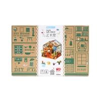 若态 儿童立体木质拼图拼装模型手工制作小屋-凯西花房