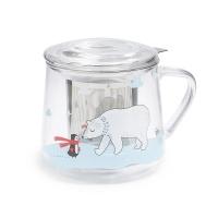丽芙玻璃泡茶杯400ml