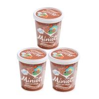 春播直采低糖低脂巧克力味冰淇淋(四人家庭分享装)500ml*3