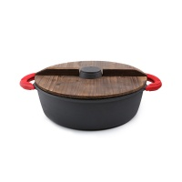 铸味铸铁锅中式火锅木盖装28cm